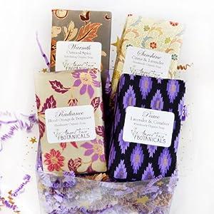 Organic Soap Gift Set - Lavender, Citrus & Spice Scents by Angel Face Botanicals