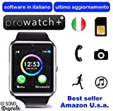 Prowatch Plus ® – ORIGINALE IN ITALIANO – Smartwatch orologio touch intelligente GT08 con funzione telefono – Compatibile con Android e iPhone Ios 6 plus S, 6S, 6plus, 6, 5S, 5C, 5, 4S, 4, Android Samsung Galaxy 4, Note 3, Note 2, S5, S4, S3, HTC, BlackBerry, LG, Sony, Huawei thumbnail