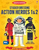 Megan Cullis Sticker Dressing Action Heroes 1 and 2 (Usborne Sticker Dressing)