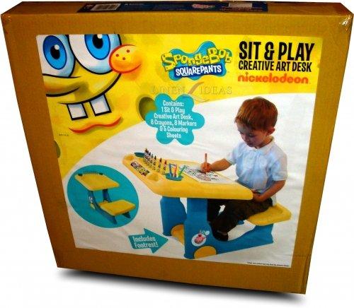 Spongebob Square Pants Sit And Draw Creative Art Desk