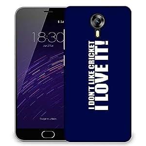 Snoogg Love Cricket Designer Protective Back Case Cover For Meizu M2