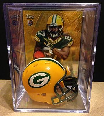 Green Bay Packers NFL Helmet Shadowbox w/ Eddie Lacy card