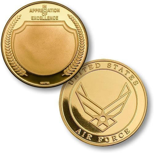 In Appreciation USAF Emblem MerlinGold Challenge Coin