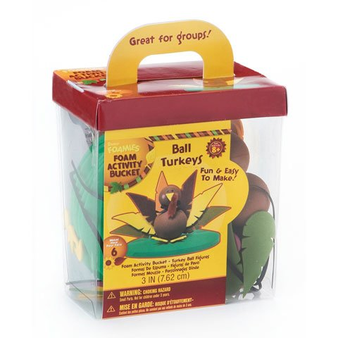Foamies Ball Turkey Figures Foam Activity Bucket - 1
