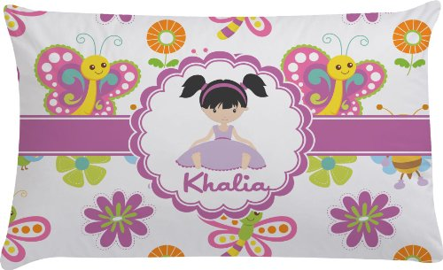 Butterflies Personalized Pillow Case - Toddler front-666512