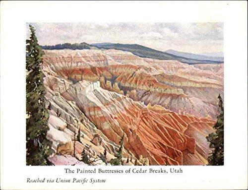 The Painted Buttresses Of Cedar Breaks, Utah, Reached Via Union Pacific System Original Vintage Postcard