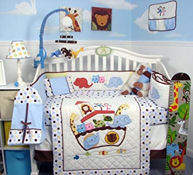 Unique SoHo Ark in Genesis Baby Crib Nursery Bedding pcs included Diaper Bag with Changing Pad