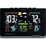 La Crosse Technology 308-1414B Wireless Atomic Digital Color Forecast Station with Alerts, Black
