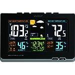La Crosse Technology 308-1414B Wireless Atomic Digital Color Forecast Station with Alerts, Black