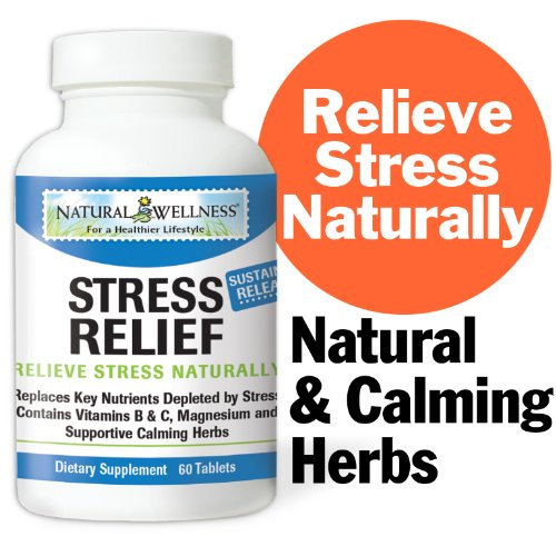 Natural Wellness Stress Relief- Extended Release Formula - 60 Tablets