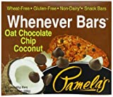 Pamelas Products Wheat Free & Gluten Free Whenever Bars Oat Choc Chip Coconut, 5 Count Box, 7.05-Ounce (Pack of 6)