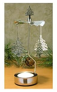 Christmas Tree Spinning Candle Holder – Scandinavian Design – Tea Light Candle Holder – Rotary…