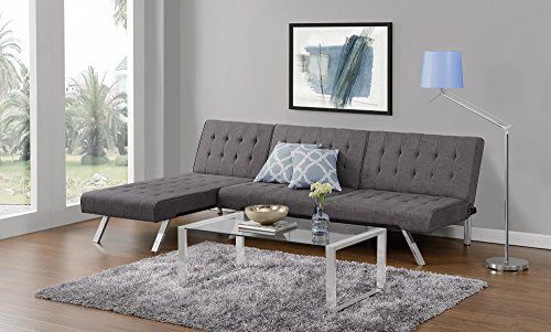 Cool Dhp Sofas Couches Emily Convertible Linen Futon Living Room Ibusinesslaw Wood Chair Design Ideas Ibusinesslaworg