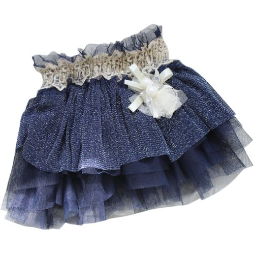 Little Hand Baby Girls' Cream Color Ruffle Tutu Tulle Layered Skirt front-1078881