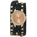 XOXO Women's XO5635 Black Braided Wrap Watch