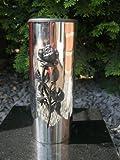Friedhofsvase Vase aus Edelstahl Grabvase Edelstahlvase