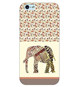 PrintDhaba QUOTE ELEPHANT D-6199 Back Case Cover for APPLE IPHONE 6 PLUS (Multi-Coloured)