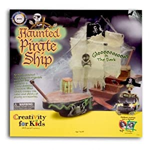 Click to buy Pirate Birthday Party Ideas: Glow-in-the-Dark Haunted Pirate Ship Kit from Amazon!