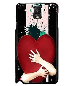 PrintVisa Metal Printed Heart Designer Back Case Cover for Samsung Galaxy Note 3-D4937