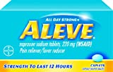 Aleve All Day Strong Pain Reliever/Fever Reducer Caplets, 200-Count Bottles (Pack of 2)