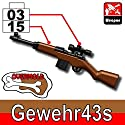 Gewehr43s Overmolded Rifle 3 Pack - Custom LEGO Minifigure Pieces