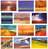 Abstract Paintings & Photographic Landscape Greeting Cards 12 Pack