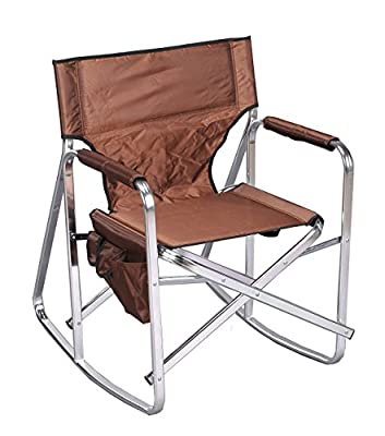 Ming's Mark SL1205-BROWN Brown Full Back Folding Rocking Director's Chair