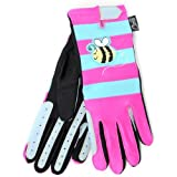 Carrots Girl's Bee Gloves - Blue/Pink, 5-12 Years
