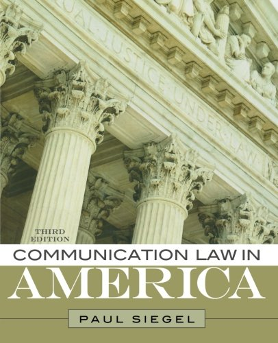 Communication Law In America front-627497