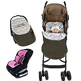 Vine Saco de invierno dormir térmico para carrito silla de bebé universal abrigo Manta para envolver al bebé para el asiento del bebé en el coche Saco portabebés 46*69CM(Negro)