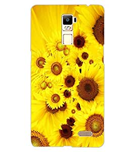 ColourCraft Beautiful Flowers Design Back Case Cover for OPPO R7