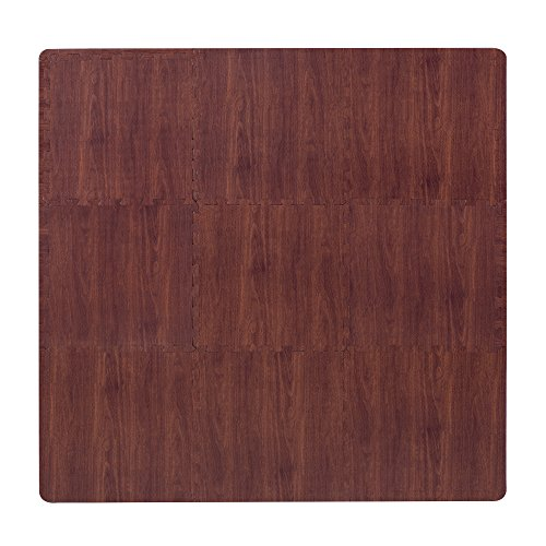 superjare-9-pieces-eva-foam-mat-interlocking-tiles-protective-flooring-with-boarders-dark-wood-grain