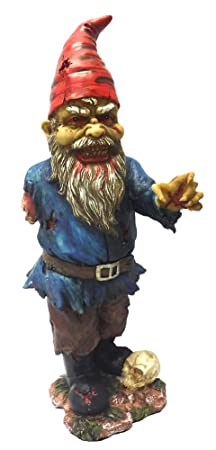 Scary Zombie Garden Gnome