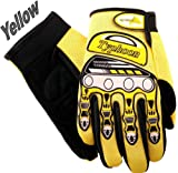 Typhoon Youth Kids Motocross Motorcycle Offroad BMX MX ATV Dirt Bike Gloves - Yellow - Medium
