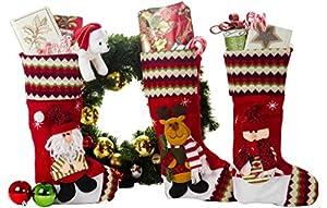 3 Pcs Set - Classic Christmas Stockings 18