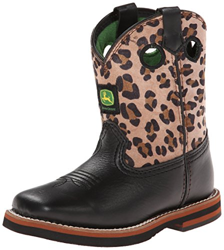 John Deere Johnny Popper JD1310 Kid's Leopard Leather Boots