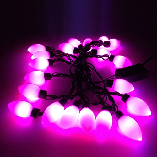 Lxcan Multi Color 5M 20 Led Big Tip Bulb C9 Lights String For Christmas Party Wedding (Pink)