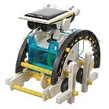 14 In 1 Solar Powered Transformer Robot Diy Assemble Kit