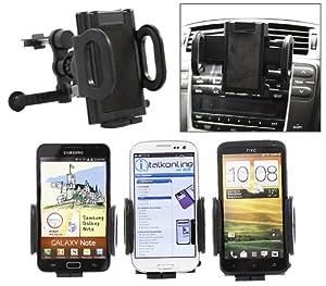 iTALKonline Samsung S6810 Fame Schwarz Benutzerdefinierte Gewidmet In Car Federbefestigung Klipp Air Vent Halterung (Urteil Compatible) Wiege