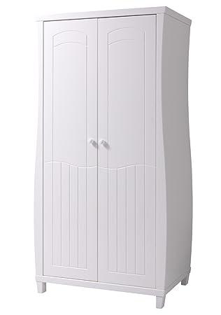 """Schrank """"Camiri"""" Weiß lackiert 06 - Abmessungen: 102 x 197,50 x 57,50 cm (B x H x T)"""