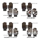 防寒性重視 スマートフォン用手袋 タッチウォーマーデジグン FAKEBOOK(フェイクブック)