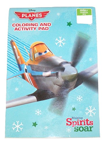 "Disney Planes Coloring & Activity Pad ~ Christmas Edition (Making Spirits Soar; 2014; Exclusive Printing; 5.25"" x 7.75"")"