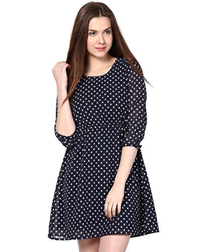 Besiva classic polka dot dress