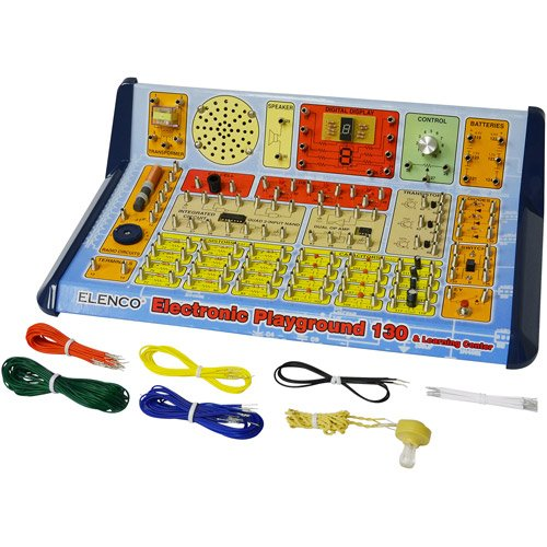 Electronic Playground & Learning Center 130-In-1, With Led Strobe Light