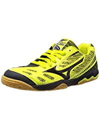 Mizuno Men 2015 SS Wave Medal 4 Table Tennis Sneaker Shoes Yellow Black 81GA141545