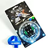 Bluecell Blue & Green Color LED Light Party Shoelaces lace + Free Bluecell Cable Tie