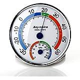 Gimbal® Doppelzweck-Testgeräte mit Temperatur Messgerät und Feuchtigkeit Messgerät Thermometer Hygrometer Analoges Kombigerät für Innen Außen Thermohygrometer