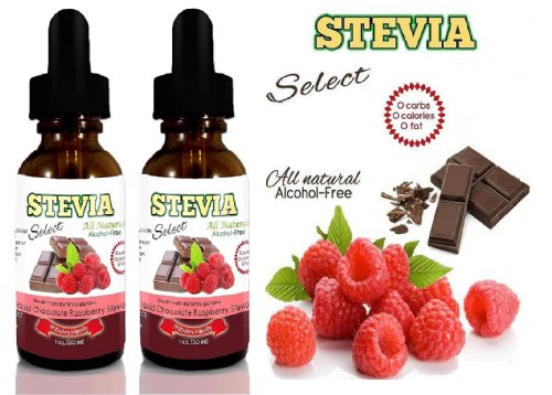 Stevia Liquid – Stevia Chocolate Raspberry 2 Pack-Pure Stevia Rebaudiana the Sweetest Part of the Stevia Plant – What is Stevia? Natural Sweeteners From Sweet Leaf -Replace Artificial Sweeteners – 1 Oz. Glass Dropper Stevia Extract – This is where to buy Stevia – This Stevia Chocolate is the Boldest Flavor Guaranteed!
