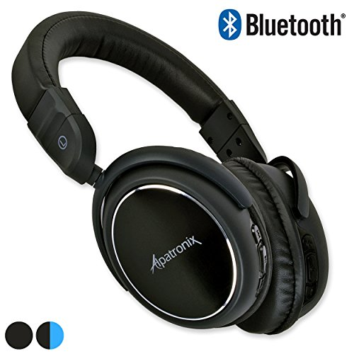 bluetooth headphones alpatronix hx100 universal noise isolating wireless stereo rechargeable. Black Bedroom Furniture Sets. Home Design Ideas
