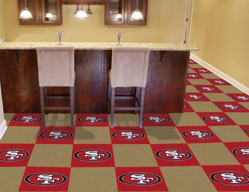 "San Francisco 49ers Carpet Tiles 18""x18"" tiles at Amazon.com"